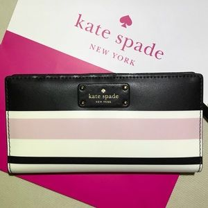 Kate Spade striped Leather wallet